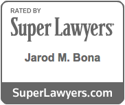 Super Lawyers Badge - Jarod M. Bona