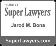 Super Lawyers Badge - Jarod M. Bona